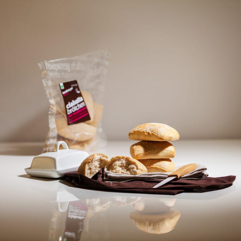 Imagefotos für den Produktkatalog – Herzberger Bäckerei | Ciabatta Brötchen